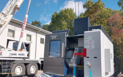 Fresh Install: New Vision Industries receives new 5-Axis Machining Center!